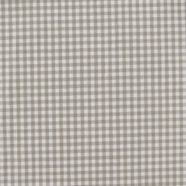 Small checked Vichy fabric - beige x 10cm