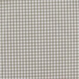 Tissu Vichy petits carreaux beige x 10cm