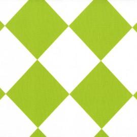 Tissu Tipsy square Lime x 10cm