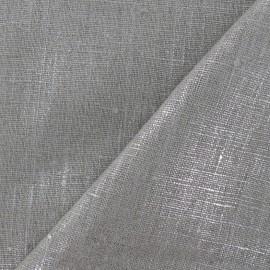 Lino Linen Fabric - Metallic Silver x 10cm