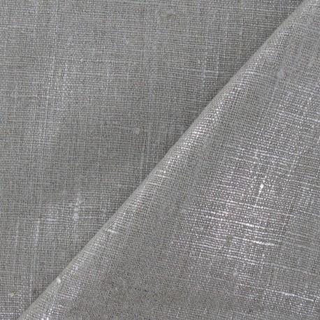 Tissu lin argent métallisé x 10cm