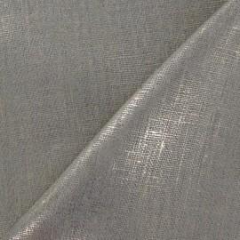 Tissu Lino lin or métallisé x 10cm