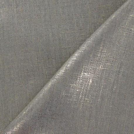 Lino Linen Fabric - Metallic Gold x 10cm