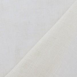 Tissu étamine (laize : 300 cm) lin crème x 10cm