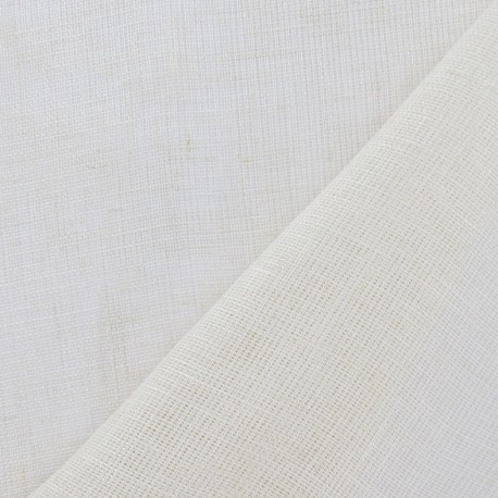 Butter Muslin Fabric (strip : 294 cm) - Cream Linen x 10cm