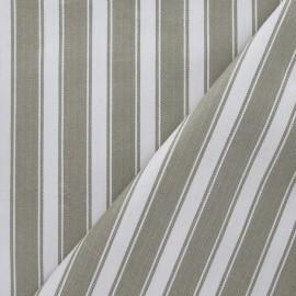 Tissu cale anti-duvet kaki-blanc x10cm