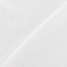 Tissu éponge bébé bambou - blanc x10cm
