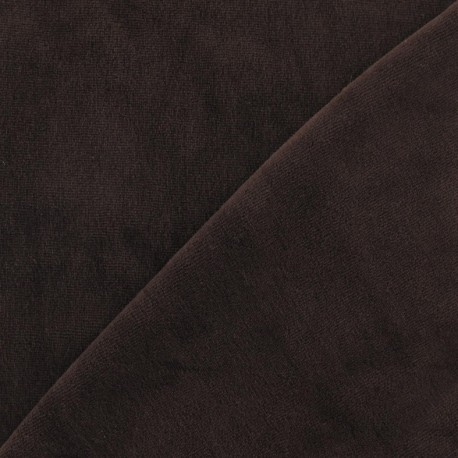Jersey sponge velvet fabric - brown x 10cm