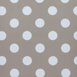 Tissu toile cirée Smarties blanc fond lin x 10cm