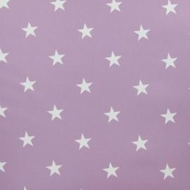 Tissu toile cirée Stars blanc fond lilas x 10cm