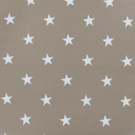 Tissu toile cirée Stars blanc fond lin x 10cm