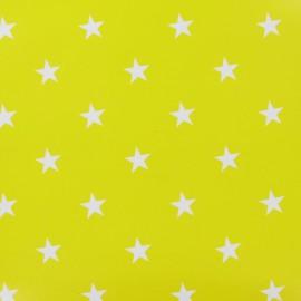 Tissu Oeko-Tex toile cirée Stars blanc fond soleil x 10cm