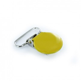 Metal removable clips, with stirrups - yellow
