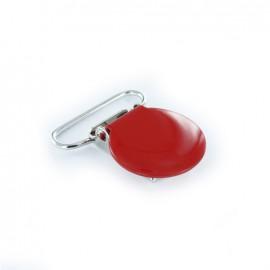 Pince bretelle métallique Rouge
