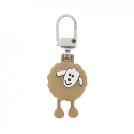 Zipper pull Sheep - beige