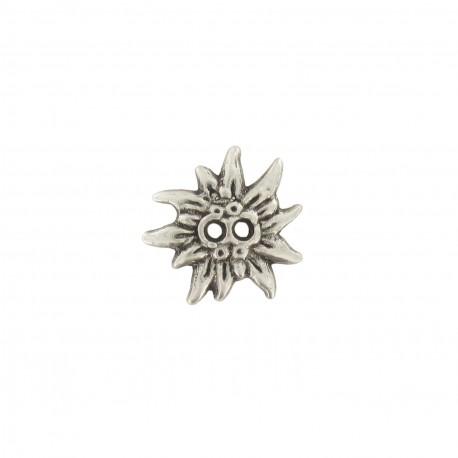 Bouton métal fleur soleil bronze