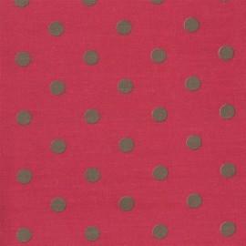 ♥ Coupon 140 cm X 140 cm ♥ Tissu coton Big Dots Cerise Earth