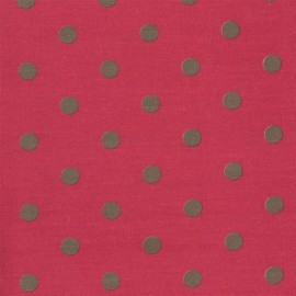 Tissu coton Big Dots Cerise Earth x 10cm
