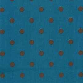 Tissu coton Big Dots Petrol Earth x 10cm
