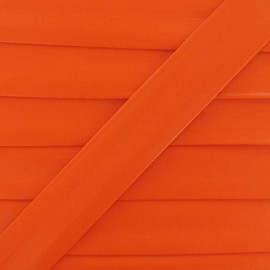 Imitation leather bias binding, 25 mm - orange
