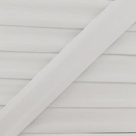 Biais simili gris clair 25 mm