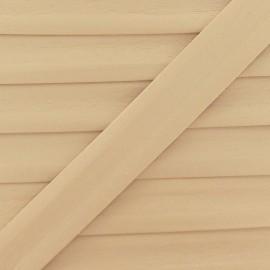 Biais simili beige clair 25 mm