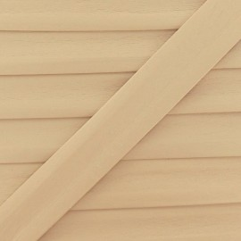 Imitation leather bias binding, 25 mm - light beige