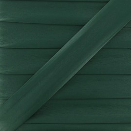 Imitation leather bias binding, 25 mm - pine green