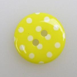 Bouton à pois jaune