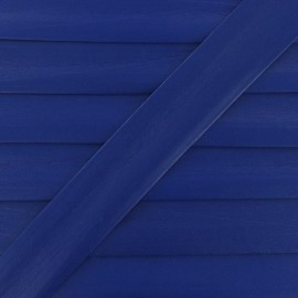 Imitation leather bias binding, 25 mm - royal blue