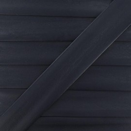 Imitation leather bias binding, 25 mm - midnight blue