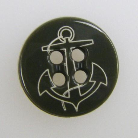 Button, lazer Yag, Anchor - khaki