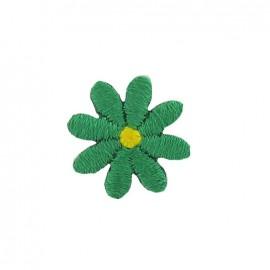 Little daisy iron-on applique - green