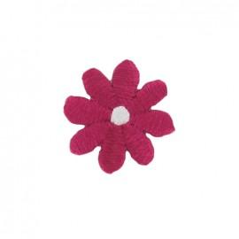 Little daisy iron-on applique - fuchsia