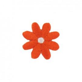 Little daisy iron-on applique - orange