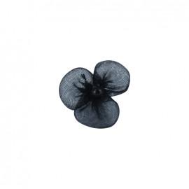 Petite fleur voile à coller/coudre noir