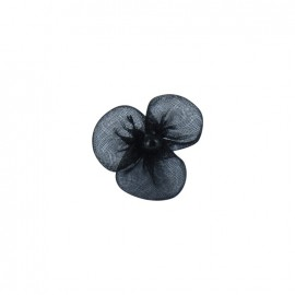 Small Net Flower to glue/to sew - black