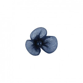Small Net Flower to glue/to sew - midnight blue