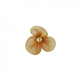 Small Net Flower to glue/to sew - antique gold