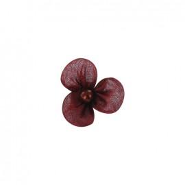 Petite fleur voile à coller/coudre pourpre