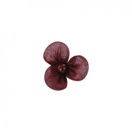 Small Net Flower to glue/to sew - crimson red