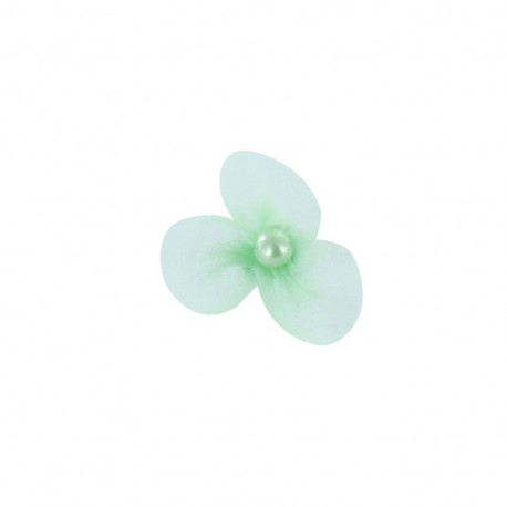 Small Net Flower to glue/to sew - frozen mint