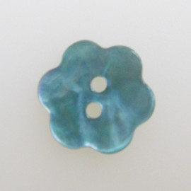 Mother-of-pearl Button, Flower - sky blue