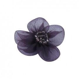 Fleur voile à coller/coudre violet