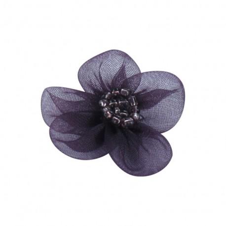 Net Flower to glue/to sew - purple