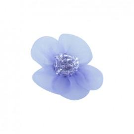 Fleur voile à coller/coudre parme