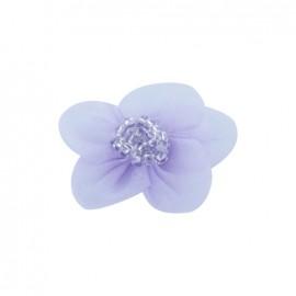 Fleur voile à coller/coudre lilas