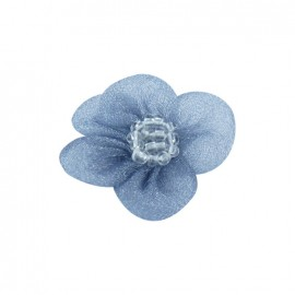 Net Flower to glue/to sew - slate-blue
