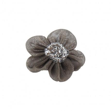 Net Flower to glue/to sew - beige