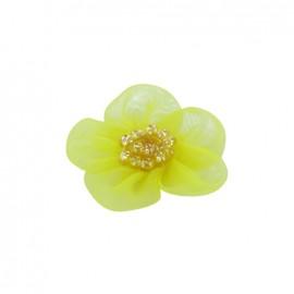 ♥ Fleur voile à coller/coudre jaune ♥